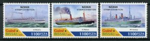 Guinea-Bissau Ships Stamps 2020 MNH New Zealand Maritime Heritage NZ2020 3v Set