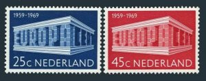 Netherlands 475-476,MNH.Michel 920-921. EUROPE CEPT-1969 Tenth anniversary.
