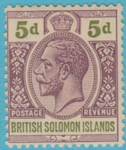 SOLOMON ISLANDS 34  MINT HINGED OG *  NO FAULTS EXTRA FINE !