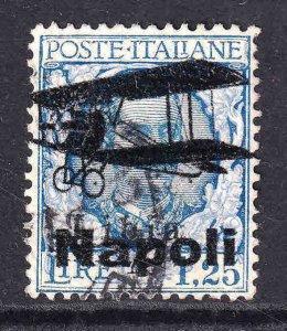 ITALY 88 SCARCE NAPOLI BI-PLANE OVERPRINT USED VF SOUND