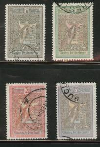 ROMANIA Scott B13-6 Used semi-postal stamp set 1906