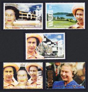 Vanuatu 40th Anniversary of Queen Elizabeth II's Accession 5v SG#587-591