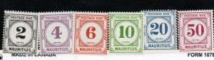 Mauritius J8-J13 Set  Mint Never Hinged