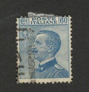 ITALY- USED STAMP - KING VICTOR EMMANUEL III , 60 c