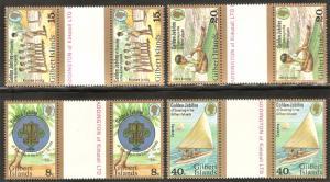 GILBERT ISLAND Sc# 304 - 307 var MNH FVF Set-4 Gutter Pairs Scouts