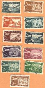YUGOSLAVIA AIRMAIL LOT#3 1951 SEE SCAN