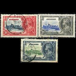 ASCENSION 1935 - Scott# 33-5 S.Jubilee 1.5-5p Used