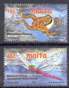 Malta Sc# 1053-1054 MNH 2001 Europa