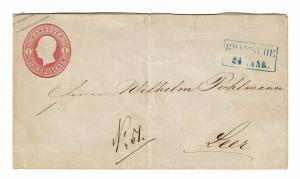 Hanover 1860 1G Postal Stationary (Stamp on Left) Used - Z254