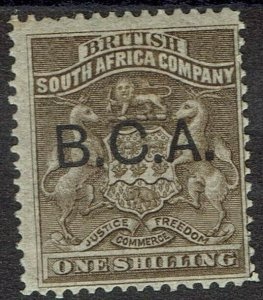 BRITISH CENTRAL AFRICA 1891 ARMS OVERPRINTED 1/-