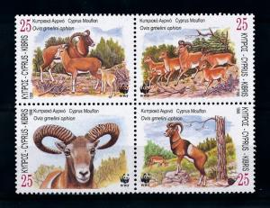 [79157] Cyprus 1998 Wild Life Mouflon WWF  MNH