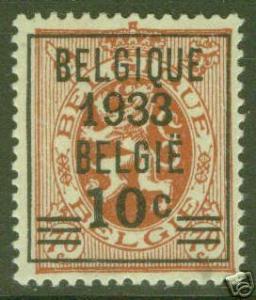 BELGUM BELGIQUE Scott 255 MH*1933 Overprint CV $12.50