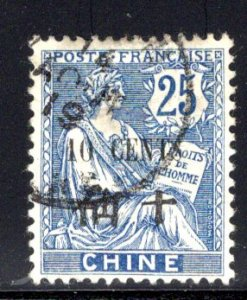 French Offices in China #61, used, 14 Aug 1919 cancel