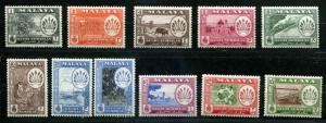 Malaya - Negri Sembilan  SC# 64-74 SG# 68-79 VIews & Scenes set MLH