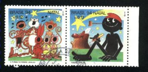 Brazil 2523c,d   pair   used VF 1994 PD