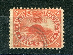 Canada #15ii  Used orange red  VF -  Lakeshore Philatelics