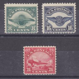 US Sc C4-C6 MNH. 1923 Second Air Post complete, F-VF