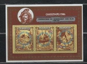 Penrhyn #B23 (1986 Pope's Visit sheet) VFMNH CV $28.00