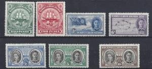 Turks & Caicos Islands, 94-100, Various Des. Singles,**VLH**
