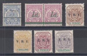 Transvaal Sc 145/251 MLH. 1893-1901 issues, 6 different, LH or NH group.