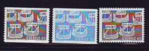 Sweden Sc 808-0 1969 Nordic Cooperation stamps mint NH