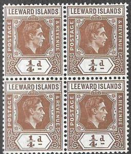 Leeward SC 103 - King George VI - Block of 4 - MNH - 1938