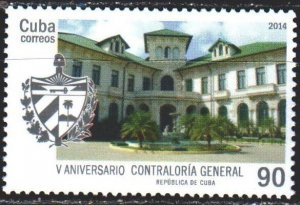 Cuba. 2014. 5830. The building of the state audit commission. MNH.