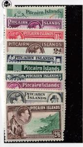 PITCAIRN ISLANDS # 1-8 VF-MNH/MLH/MH KGV1 ISSUES CAT VALUE $75.90