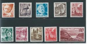 Germany Rhein-Palatinate 6N30-38 Various Set MNH