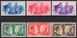 1941 Italy Hitler / Mussolini complete set MNH Sc# 413 / 418 CV $65.00