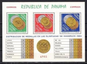 Panama, Scott cat. 456 JK. Innsbruck Olympics s/sheet.