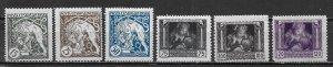 Czechoslovakia B124-29 1st Independence set MH (lib)