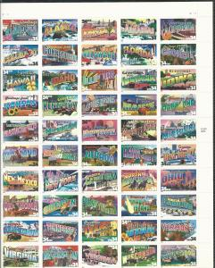 United States Greetings Full Sheet