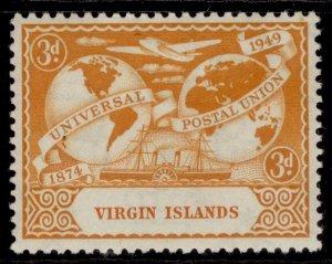 BRITISH VIRGIN ISLANDS GVI SG127, 3d orange, M MINT.