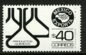 MEXICO Exporta 1583, $40P Chemical Products Fluor Paper 8. MINT, NH. VF.