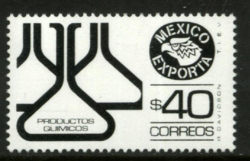 MEXICO Exporta 1583 $40P Chemical Products Fluor Paper 8 MNH