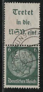 Germany Scott # 419, label A15.1, used, se-tenant, Mi# S191