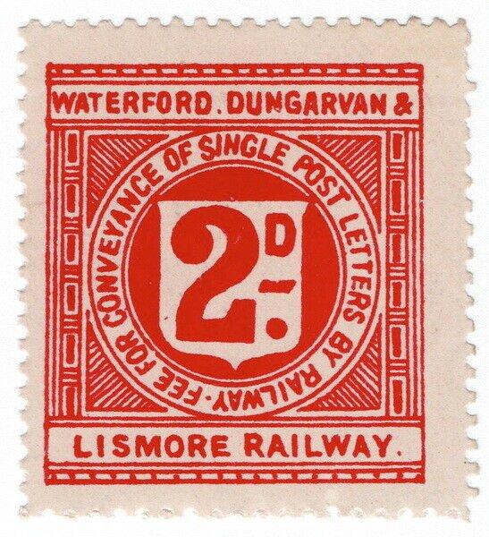 (I.B) Waterford Dungarvan & Lismore Railway : Letter Stamp 2d