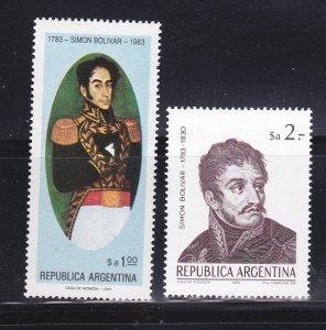 Argentina 1424-1425 Set MNH Simon Bolivar (D)