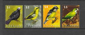 BIRDS - GRENADA #3702-5  MNH