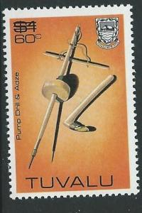 TUVALU SG224 1983 60c ON $1 SURCH MNH