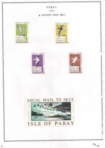 SCOTLAND - PABAY - 1964 - Europa, Birds - 4v Set, De Luxe Sheet - MLH