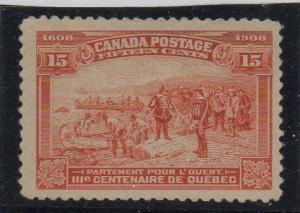 Canada Sc 102 1908 15c Champlain's Departure stamp mint VF