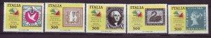 J22664 Jlstamps 1985 italy set mnh #1652a-e stamps