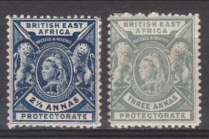 BRITISH EAST AFRICA 1896 QV LIONS 21/2A AND 3A
