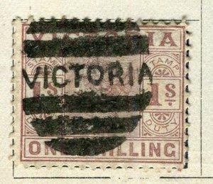 AUSTRALIA VICTORIA; 1886 early classic QV issue fine used 1s. value