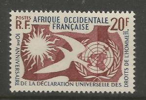 FRENCH WEST AFRICA  85  MNH,  HUMAN RIGHTS, COMMON DESIGN