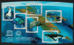 New Caledonia Boobies Birds Fish Snake Turtles Dugong Whale MS SG#MS1459