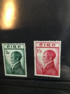 Ireland 2015 Scott #149-150 Mint F-F+-NH 1953 Robert Emmet Complete - Cat. $54.