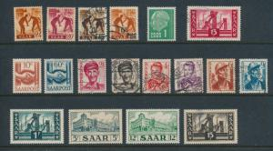 Saar, Assortment of 17 Stamps, Mint/Used Mixed - Free U.S. Shipping, Free Wor...